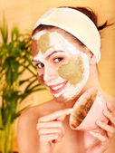 Natural homemade clay facial masks . — Stock Photo