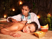 Woman getting massage in luxury spa. — Stock Photo