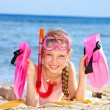 Child playing on beach. — Stock Photo #6140170