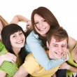 Happy group of young — Stock Photo #6140255