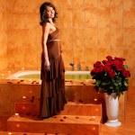 Woman relaxing in bath. — Stock Photo #6140813