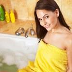 Woman take bubble bath. — Stock Photo #6140888