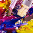 Close up of paint mixed on palette. — Stock Photo #6141001