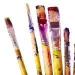 Close up of art utensils. — Stock Photo