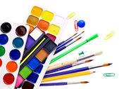School art supplies — Stock Photo