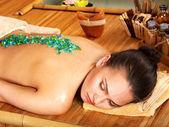 Salt massage. — Stock Photo