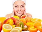 Natural homemade fruit facial masks . — Stock Photo