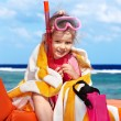 Child playing on beach. — Stock Photo #6256543