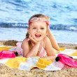 Child playing on beach. — Stock Photo #6256547
