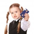Happy child with credit card. — Stock Photo