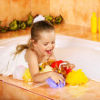 Stock Photo: Kid washing in bath.