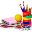Stock Photo: Art school supplies.