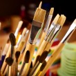 Foto Stock: Close up of art utensils.