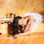 Woman relaxing in bath. — Stock Photo #6256949
