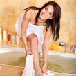 Woman take bubble bath. — Stock Photo #6256983