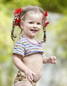 çocuk açık portresi. — Stok fotoğraf