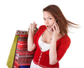 Bela jovem segurando os pincéis de maquiagem. — Foto Stock