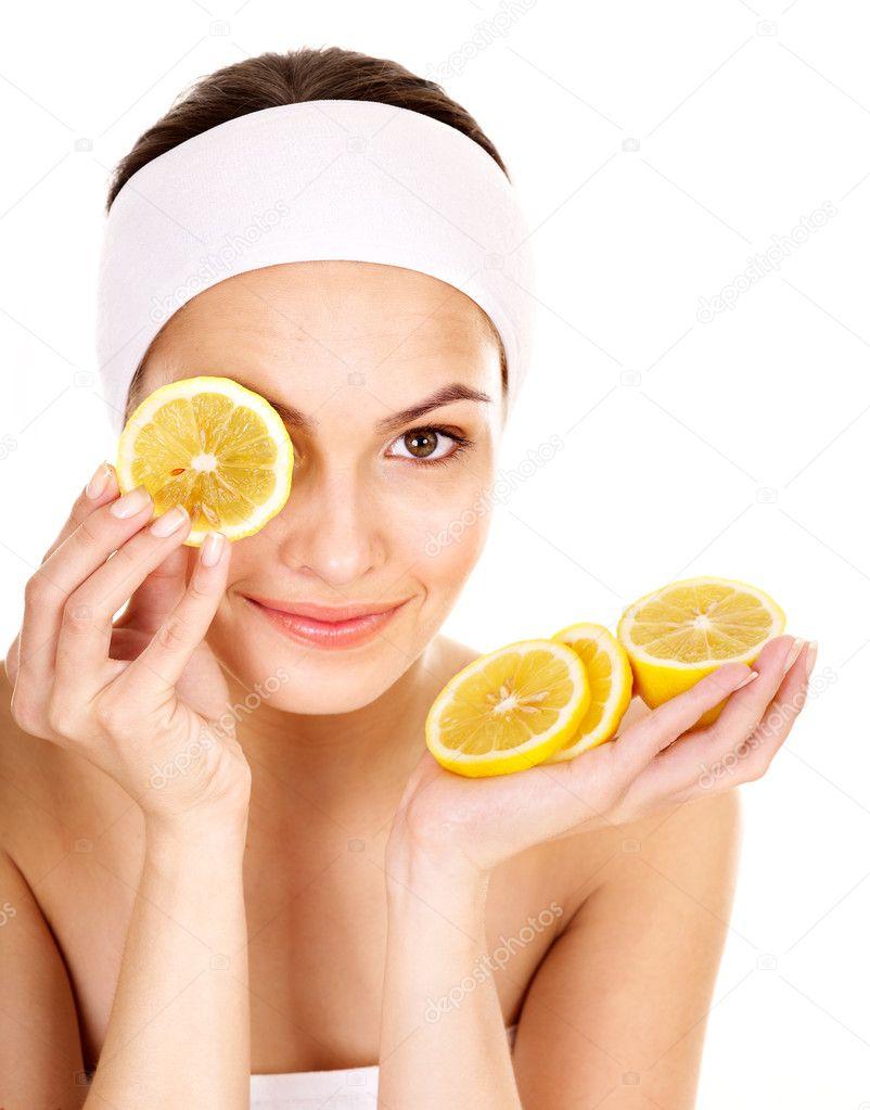 Homemade fruit facial