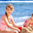 Children playing on beach. — Stock Photo #6335590