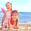 Children playing on beach. — Stock Photo #6335605