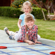 Kids playing in park. — Stock Photo #6335625