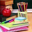 Stock Photo: School supplies.