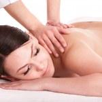 Girl having back massage. — Stock Photo #6336486