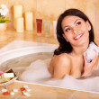 Stock Photo: Woman take bubble bath.