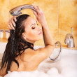 Woman take bubble bath. — Stock Photo #6336589