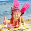 Child playing on beach. — Stock Photo #6336653
