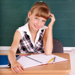 Schoolchild in classroom near blackboard. — Stock Photo #6336850