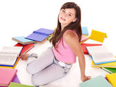 Girl with group book. — Stock Photo