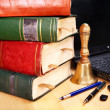 Books and laptop. School supplies. — Stock Photo #6380454