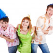 Group of teenagers celebrate birthday. — Stock Photo #6409468