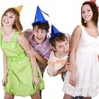 Happy birthday group of young — Stock Photo #6409471