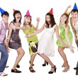 Royalty-Free Stock Photo: Happy group of celebrate birthday. .