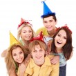 Group of young in party hat. — Stock Photo #6410148
