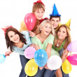 Group of young in party hat. — Stock Photo #6410160