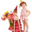 Children in party hat. — Stock Photo #6724032