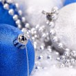 Christmas ball in snow. — Stockfoto