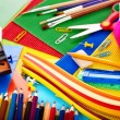 Close up of school supplies. — Stock Photo