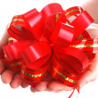 Royalty-Free Stock Photo: Red bow. Isolated.