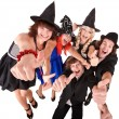 Group of in witch costume. — Foto Stock #6724418