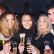 Group young at nightclub. - Stock Photo
