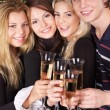 Group young at nightclub. — Stock Photo #6724891