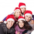 Group young in santa hat . — Stock Photo #6724923