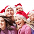 Group young in santa hat . — Stock Photo #6724927