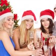 Group young in santa hat. — Foto de Stock   #6724981