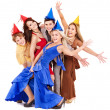 Group of young in party hat. — Stock Photo #6725032