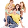 Group of young on white. — Stock Photo #6725059